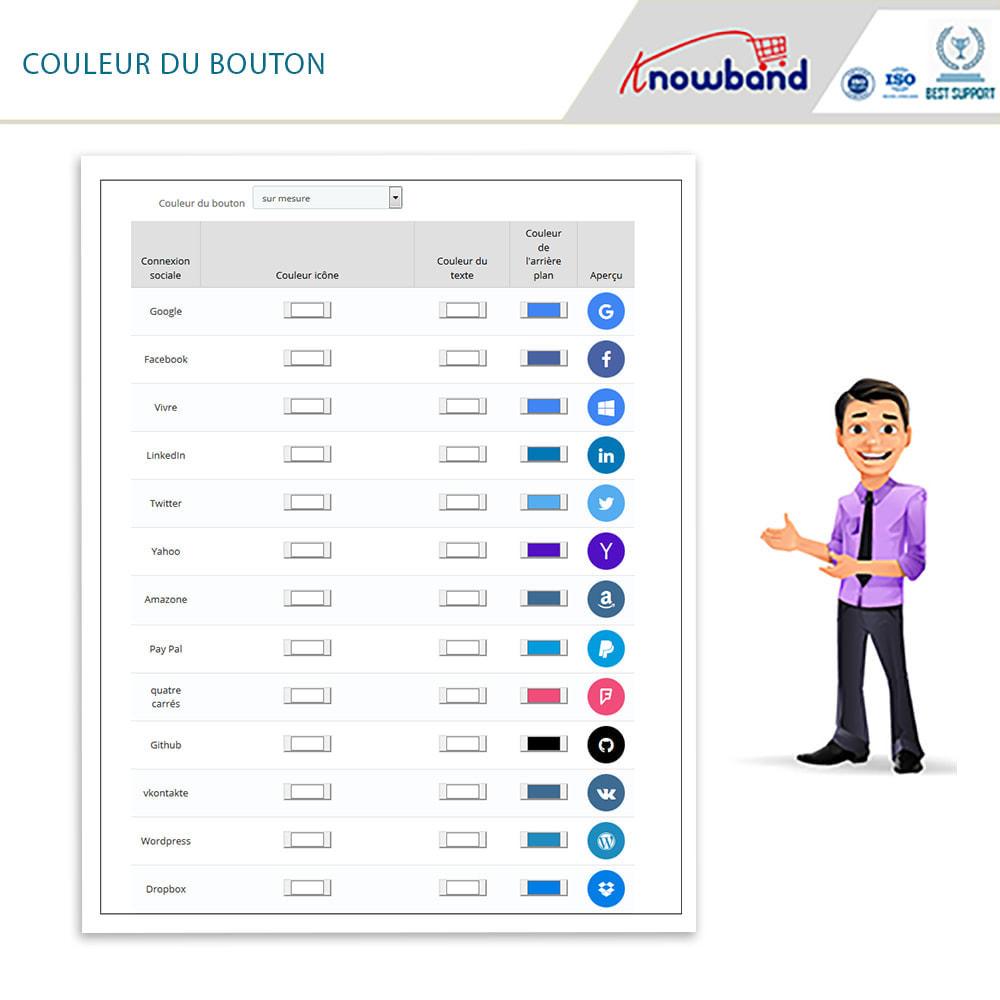 module - Boutons Login & Connect - Knowband- SocialLogin,14 en 1,Statistiques et MailChimp - 4