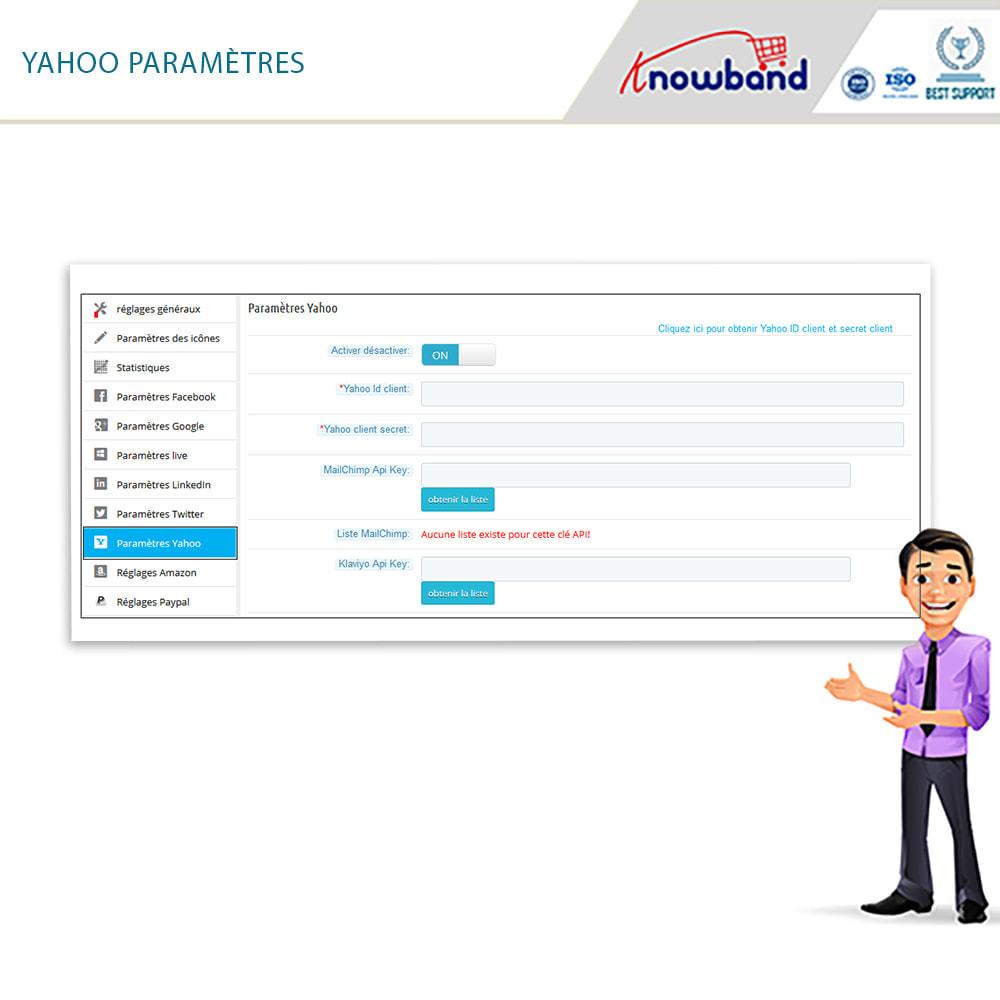 module - Boutons Login & Connect - Knowband- SocialLogin,14 en 1,Statistiques et MailChimp - 20