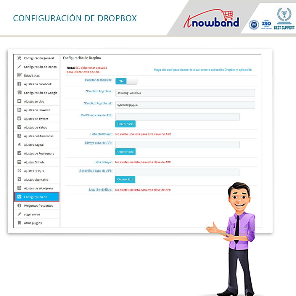 module - Botones de inicio de Sesión/Conexión - Knowband-Acceso Social 14 in 1,Estadísticas & MailChimp - 8