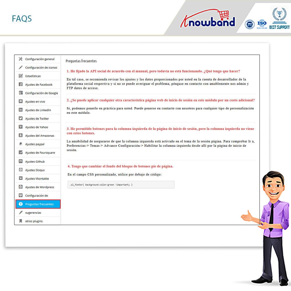 module - Botones de inicio de Sesión/Conexión - Knowband-Acceso Social 14 in 1,Estadísticas & MailChimp - 13