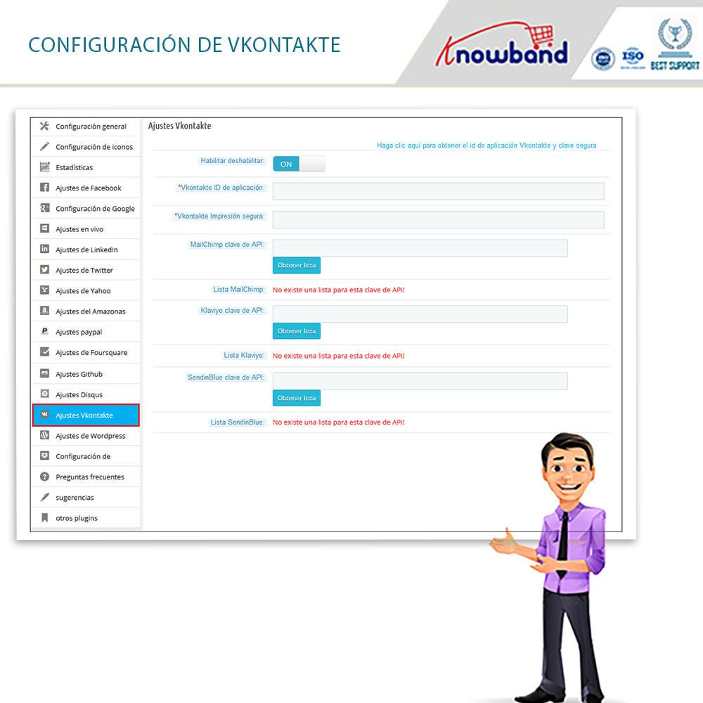 module - Botones de inicio de Sesión/Conexión - Knowband-Acceso Social 14 in 1,Estadísticas & MailChimp - 14