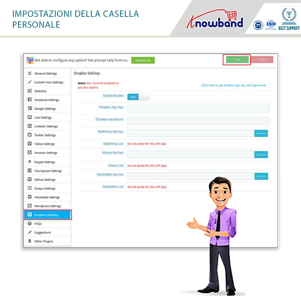 module - Login/Connessione - Knowband - Social Login 14 in 1,Statistiche & MailChimp - 4