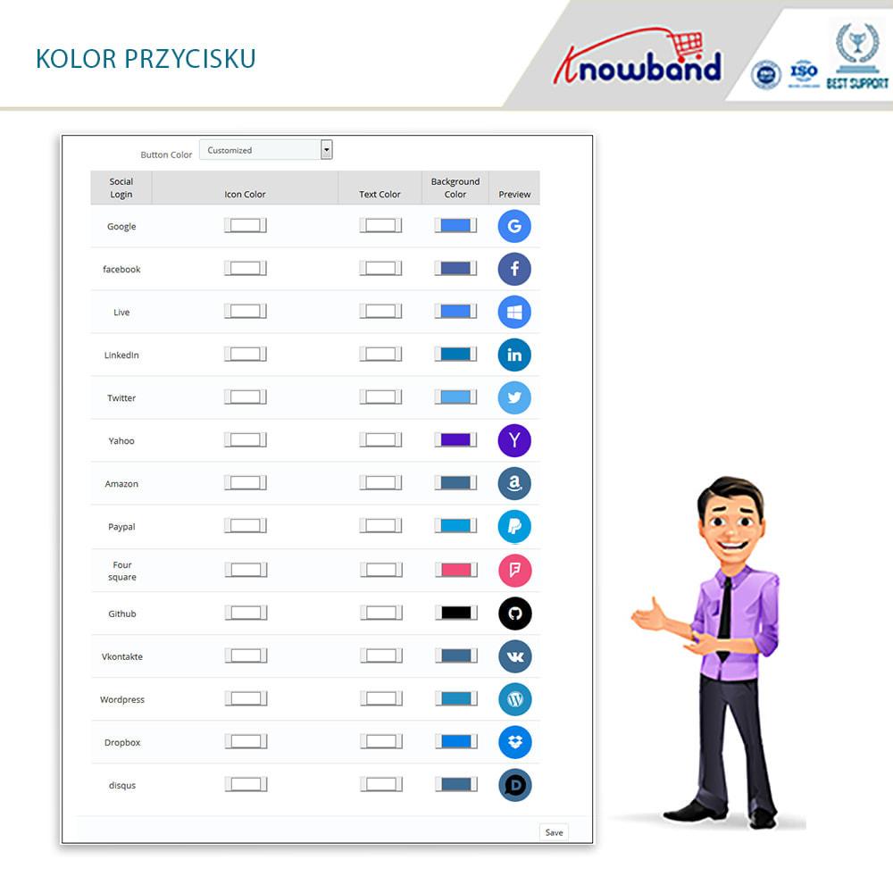 module - Przyciski do logowania  & Connect - Knowband - Social Login 14 in 1, Statistics & MailChimp - 5