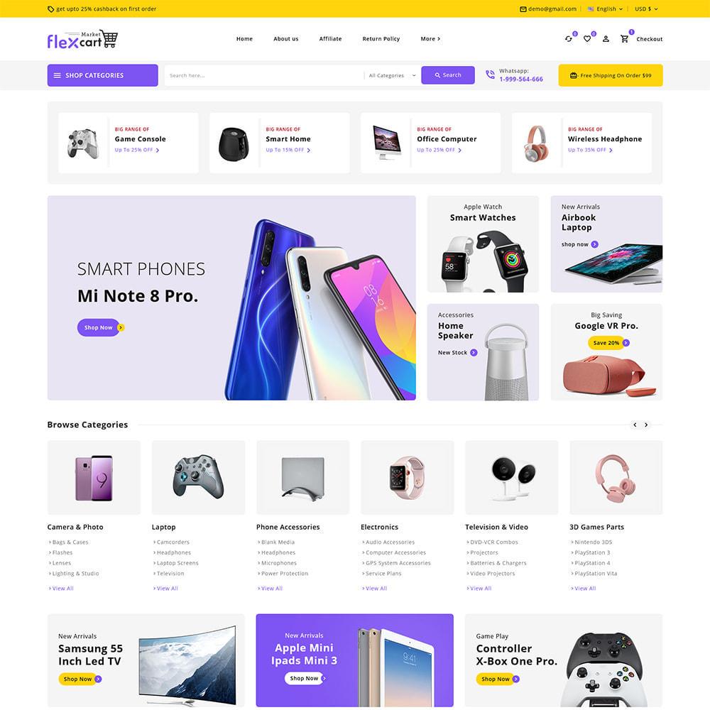 theme - Electrónica e High Tech - Flexcart - Mega Electronic Super Store - 2