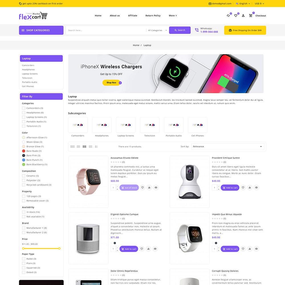 theme - Electrónica e High Tech - Flexcart - Mega Electronic Super Store - 6