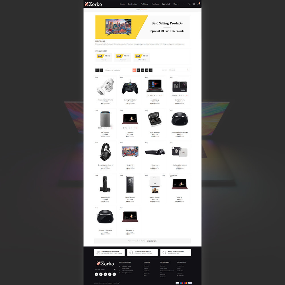 theme - Electronique & High Tech - Zorko Electronic Store - 3