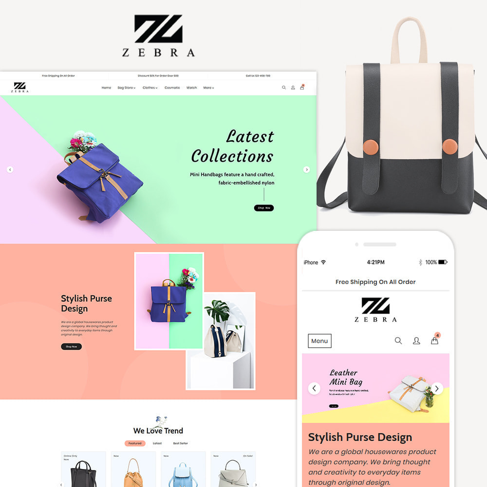 theme - Mode & Chaussures - Zebra Fashion Store - 1