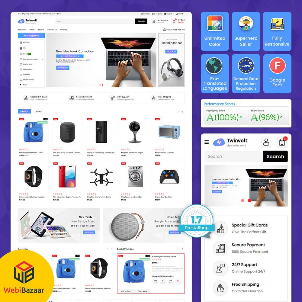 theme - Electrónica e High Tech - Twinvolt - Supermarket Hitech Store - 1