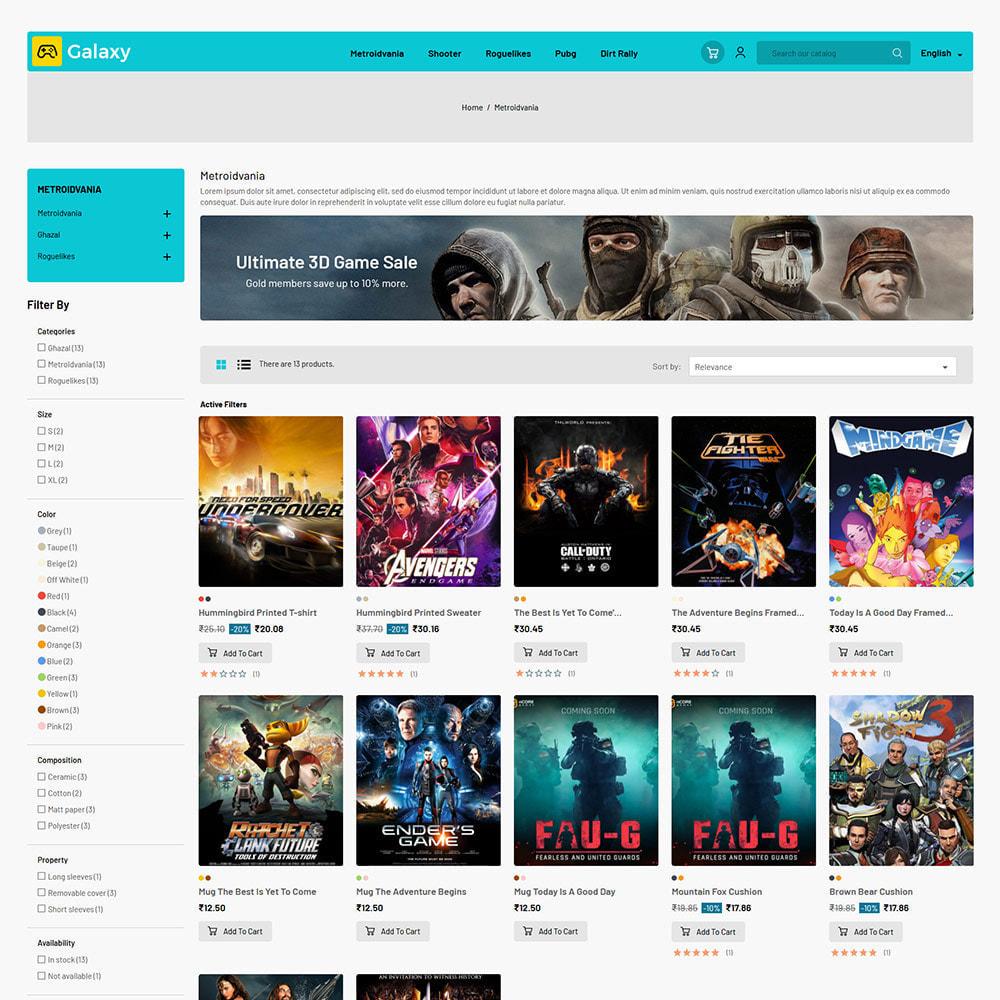 theme - Enfants & Jouets - Galaxy Game - Magasin de jouets pour jeux numériques - 4