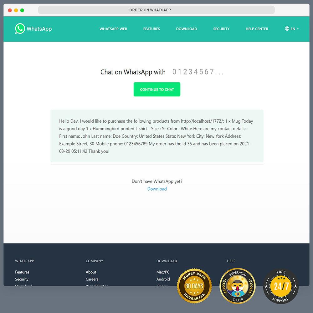 module - Asistencia & Chat online - Integración de WhatsApp PRO: pedido, chat, agentes - 11
