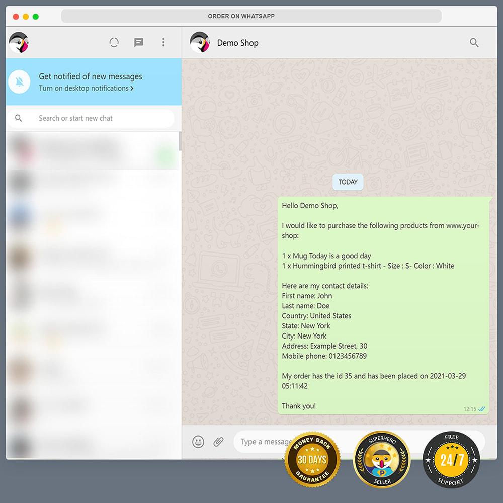 module - Suporte & Chat on-line - Encomendar no WhatsApp - 12