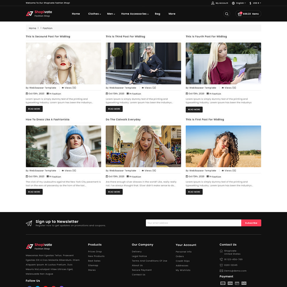theme - Mode & Schoenen - Shopivate -  The Fashion Shop - 7
