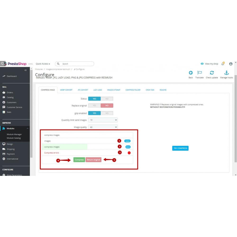 module - Visuels des produits - Image Compress with reSmush + CRON JOB - 7