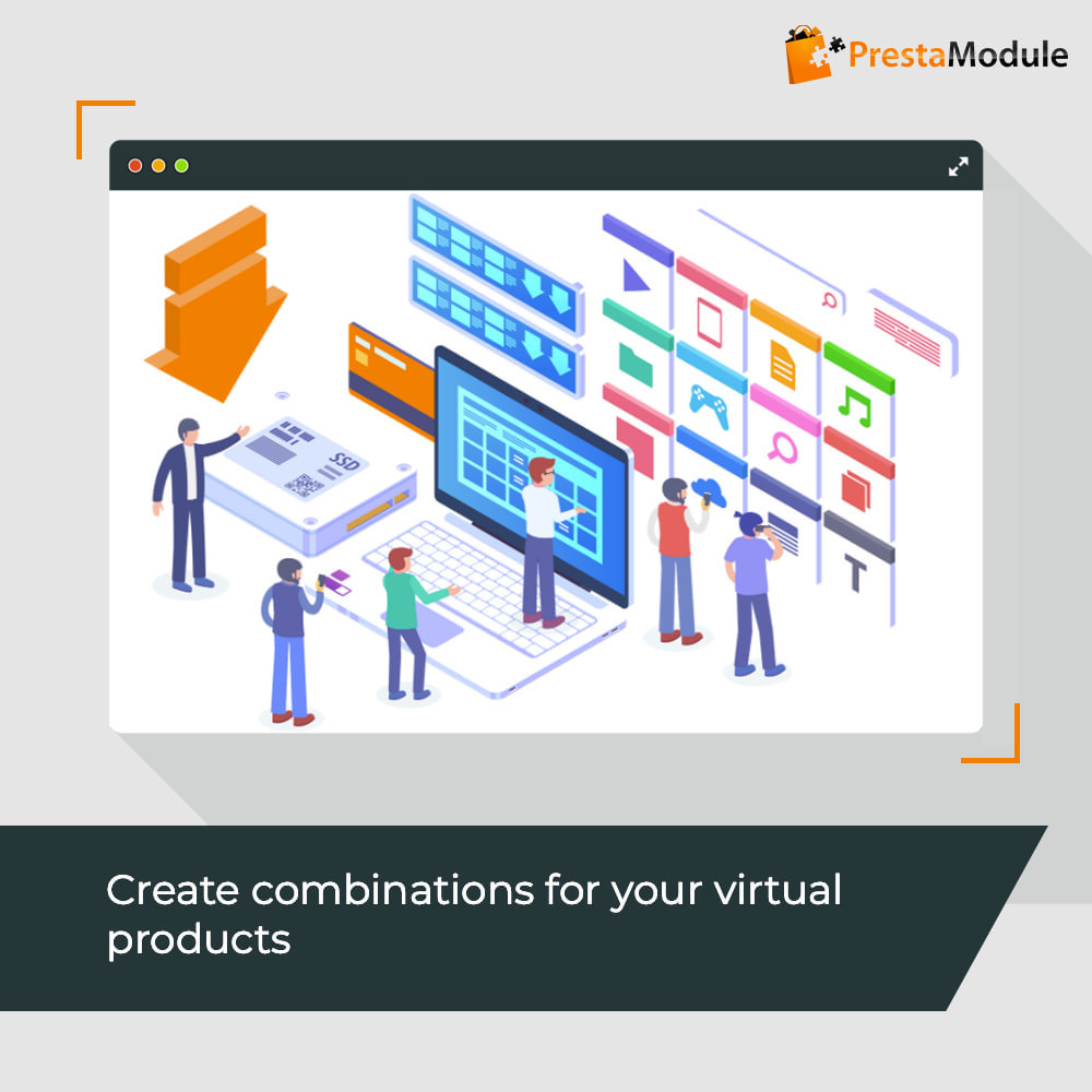 module - Productos Digitales (de descarga) - Virtual Products with Combinations - 1