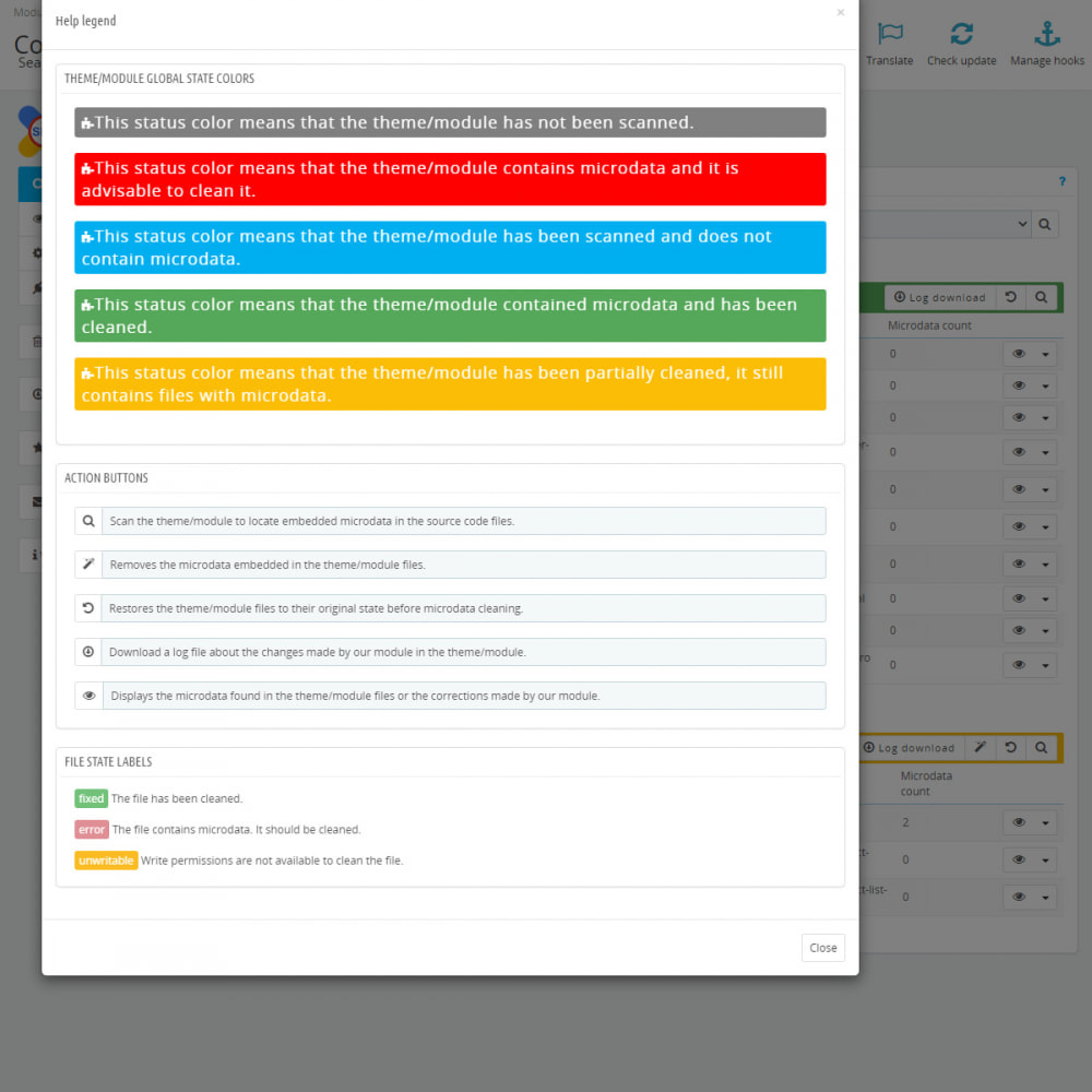 module - SEO (Posicionamiento en buscadores) - Busca y Limpia Microdatos Incorrectos - SEO - 4