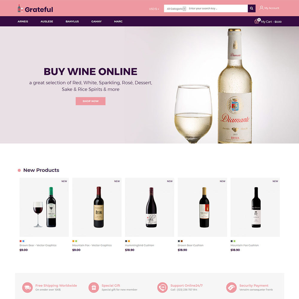theme - Boissons & Tabac - Magasin de vin rouge de bière alcoolisée - 3