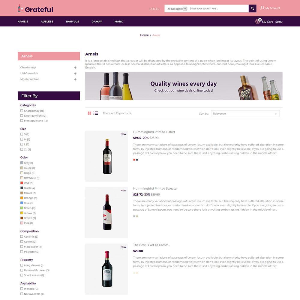 theme - Bebidas y Tabaco - Vino - Tienda de vino tinto de cerveza de alcohol - 5