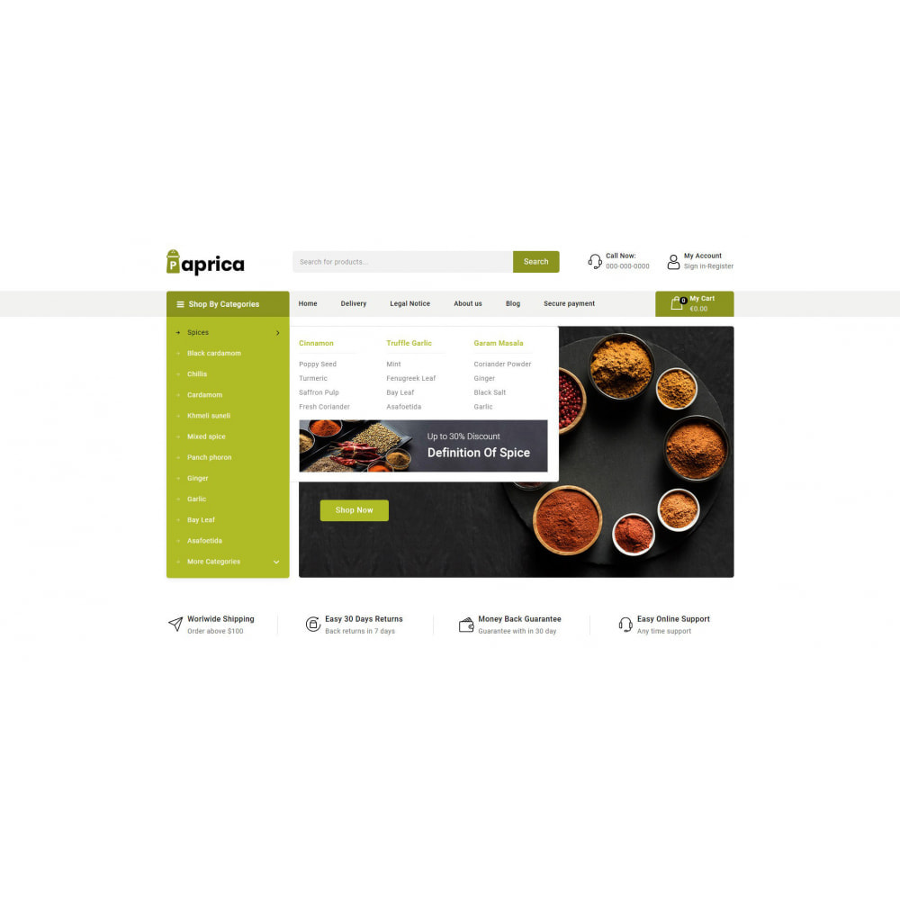 theme - Food & Restaurant - Paprica - Spice Store - 6