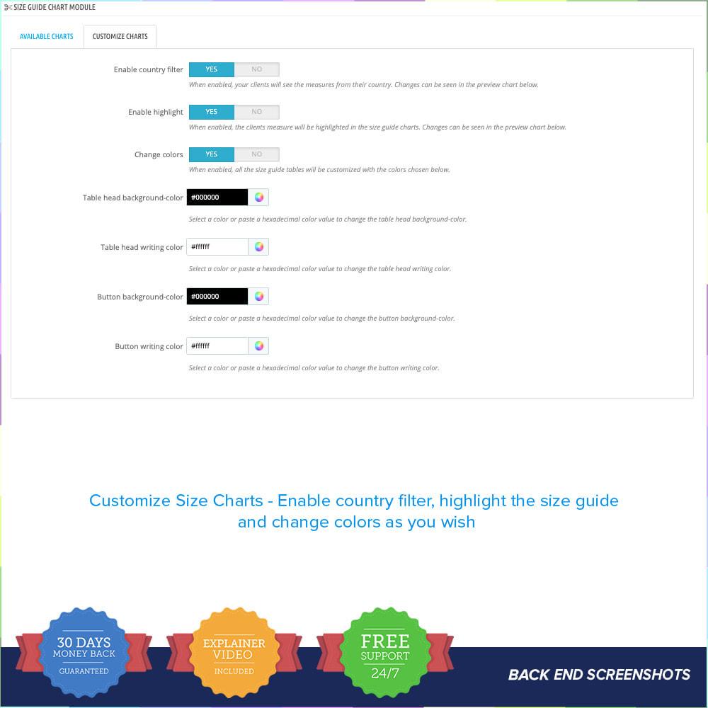 module - Grandezze & Unità di misura - Size Guidance - Product Size Chart - 7