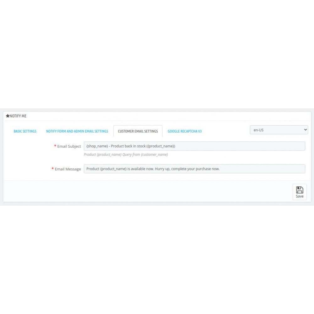 module - Emails & Notificaties - Notify Me - 3