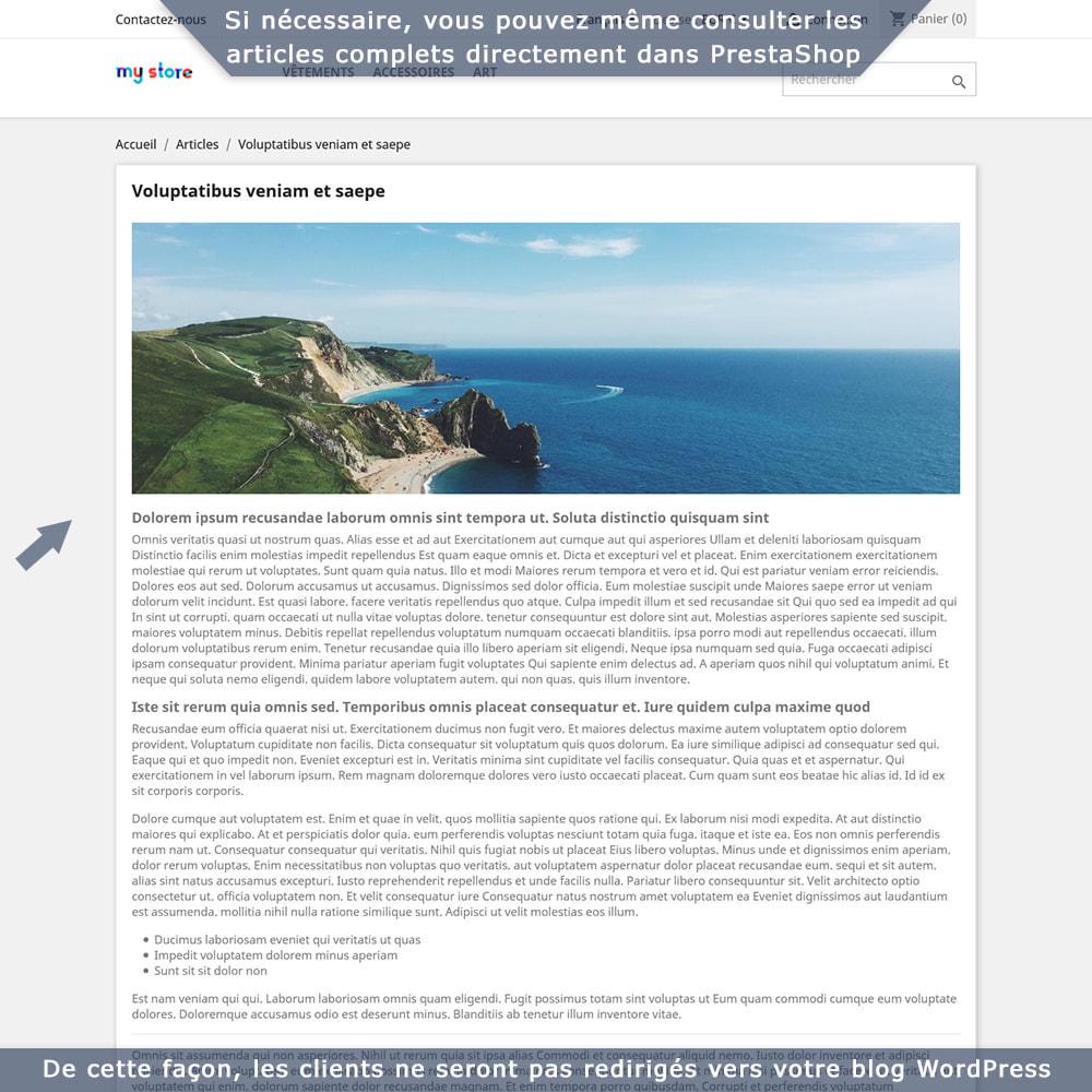 module - Blog, Forum & Actualités - Intégration bidirectionnelle PrestaShop-WordPress - 5
