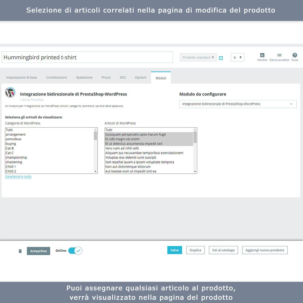 module - Blog, Forum & News - Integrazione bidirezionale PrestaShop e WordPress - 9