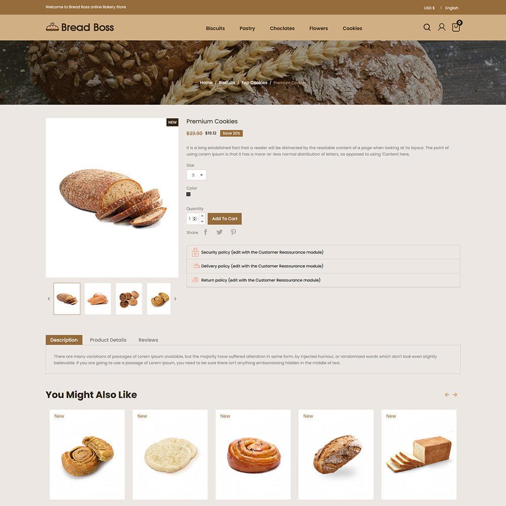 theme - Alimentation & Restauration - Breadboss Food - Pain de pain Burger Pizza Store - 6