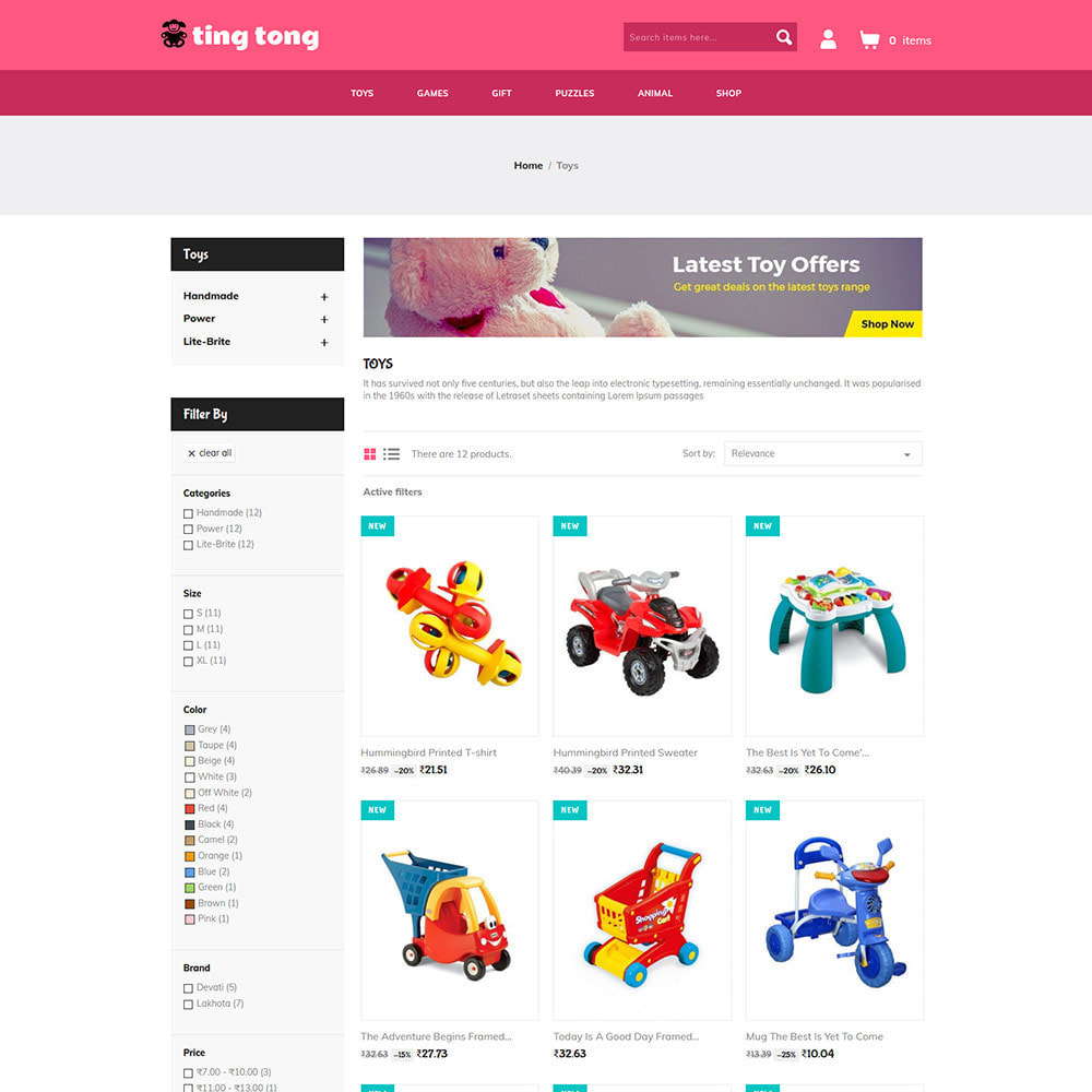 theme - Kids & Toys - Tingtong Kids - Baby Toy Game Store - 2
