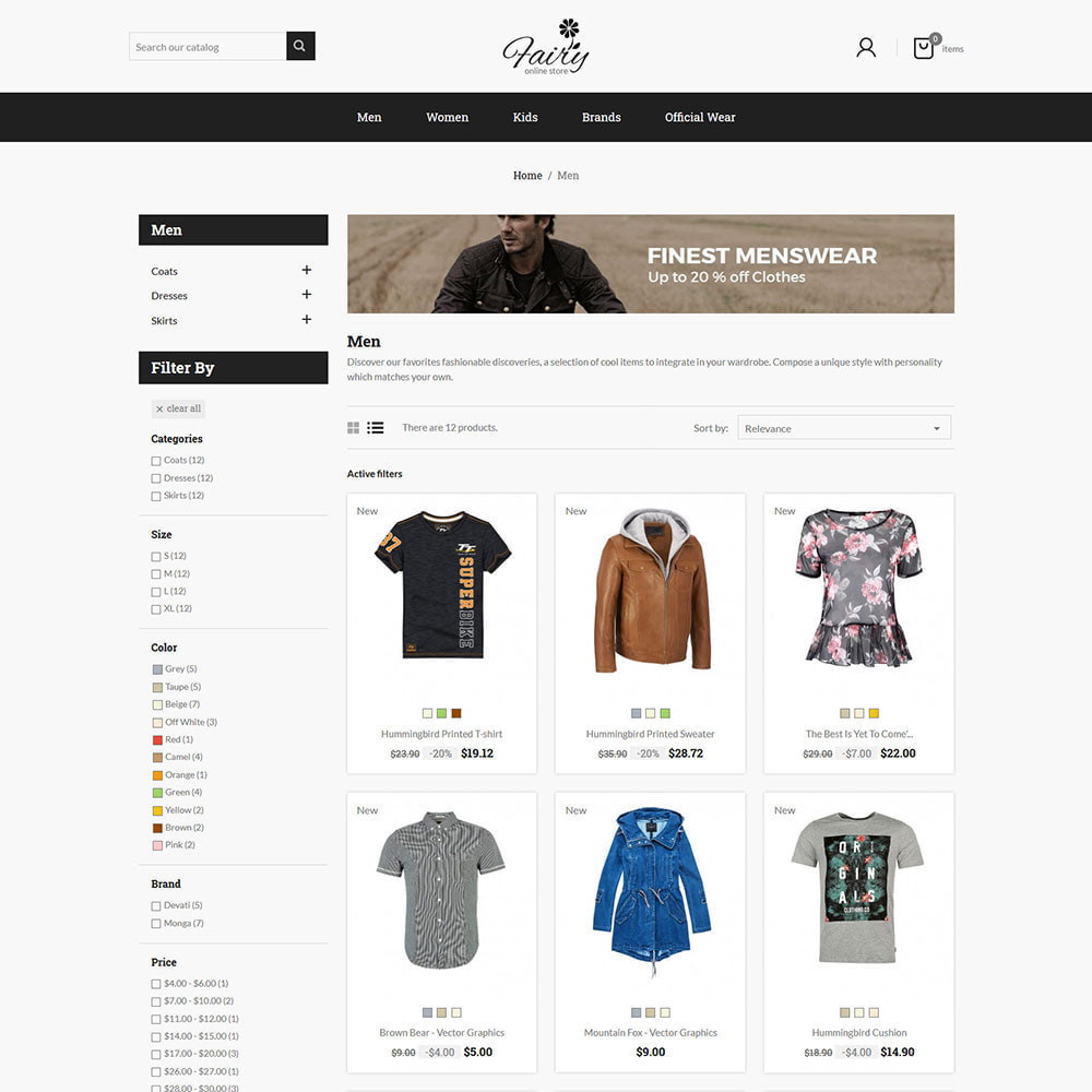 theme - Fashion & Shoes - Fairy Cloth Shirt  - Fashion Accessories Store - 2