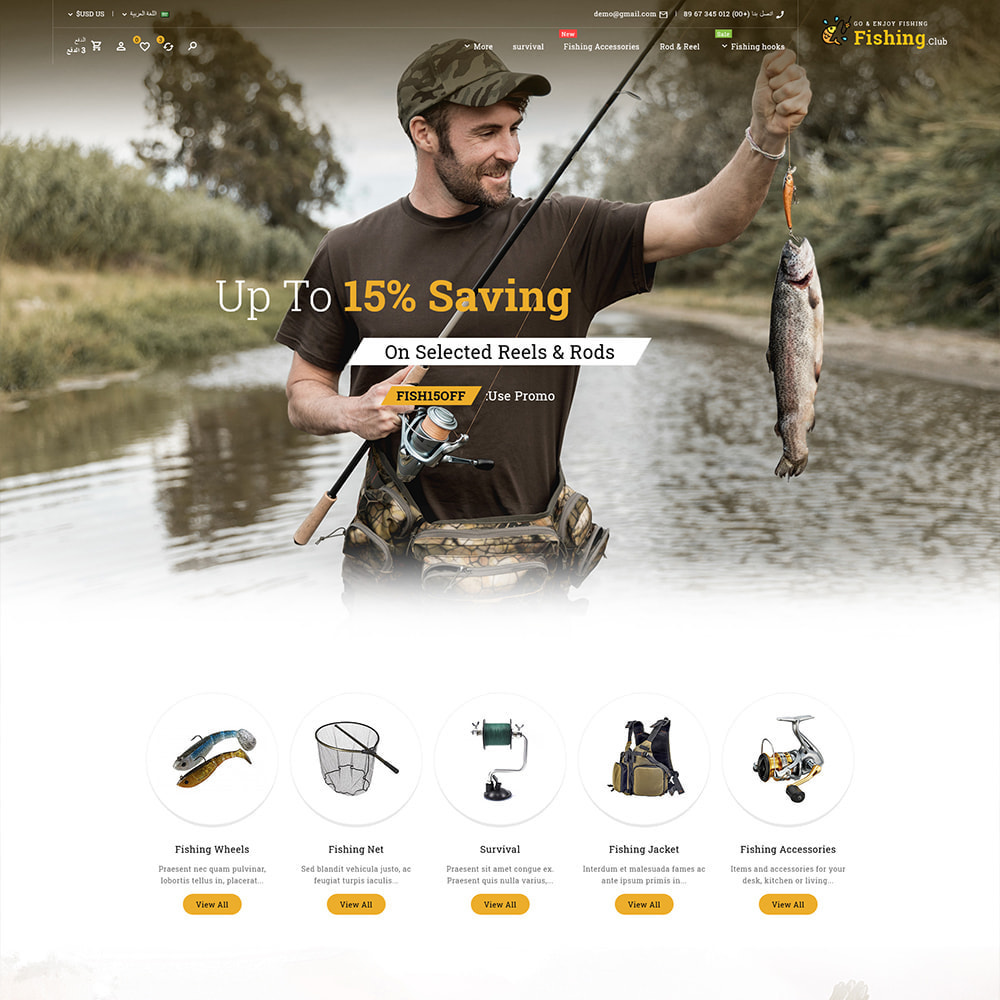 theme - Sport, Aktivitäten & Reise - Fishing club - Equipment Store - 3