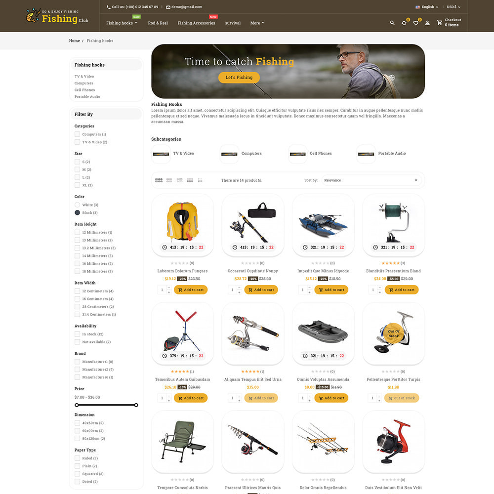 theme - Sport, Aktivitäten & Reise - Fishing club - Equipment Store - 5