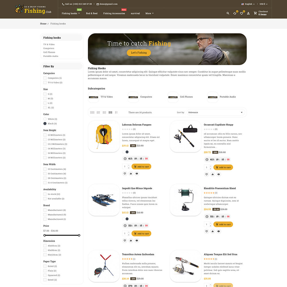 theme - Sport, Aktivitäten & Reise - Fishing club - Equipment Store - 6