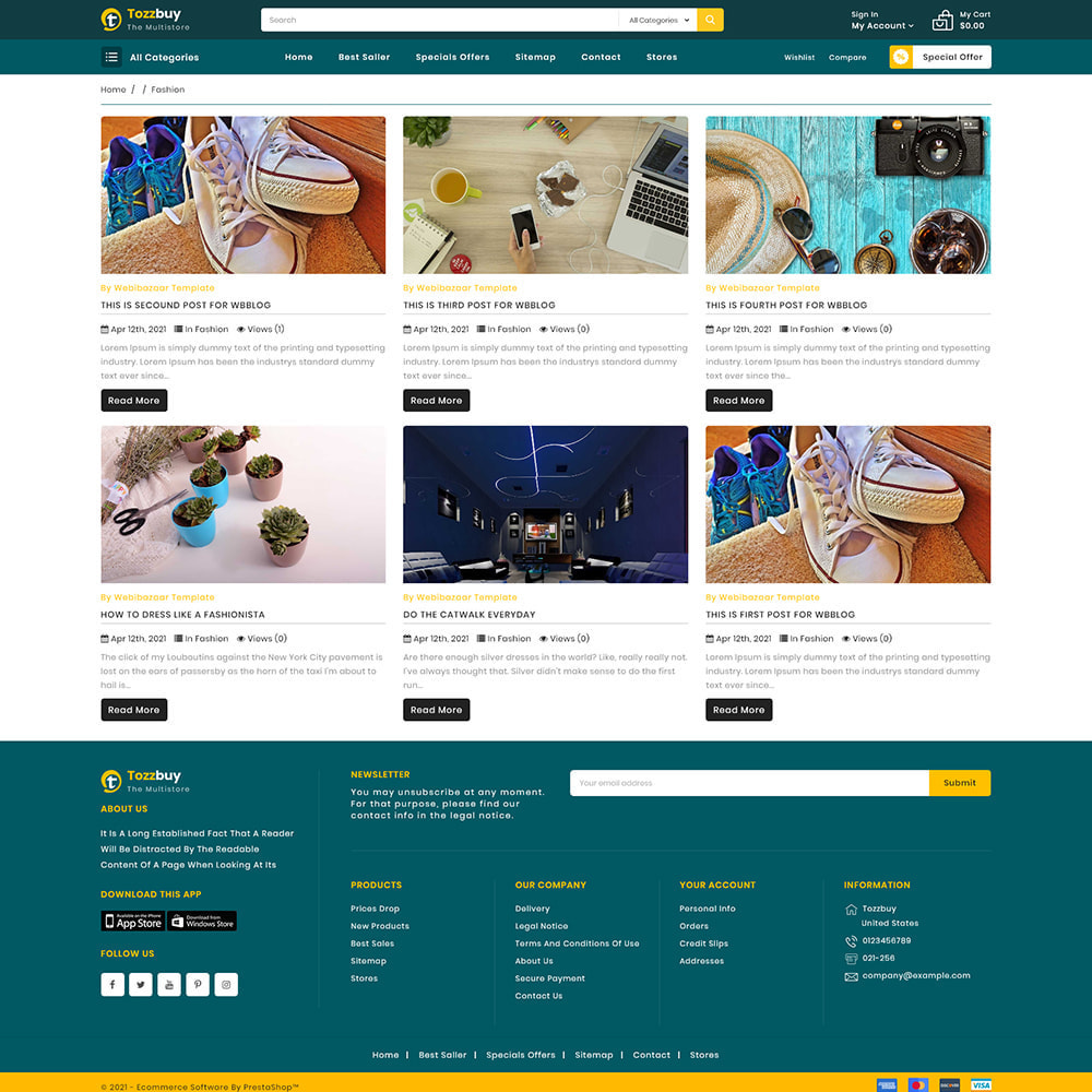 theme - Electronics & Computers - Tozzbuy - Super Market Multipurpose Store - 7