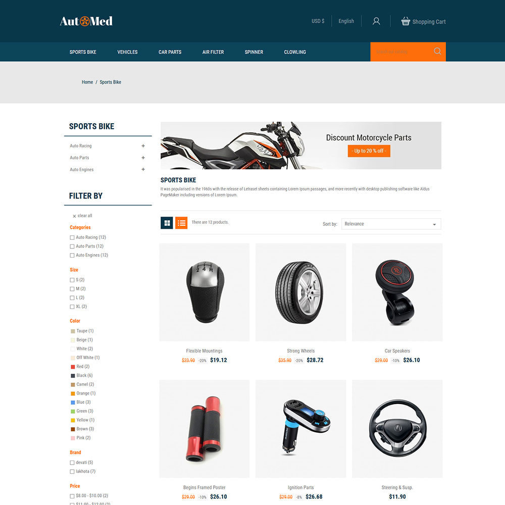 theme - Automotive & Cars - Automed  - Tool Auto Car Accessories Store - 2