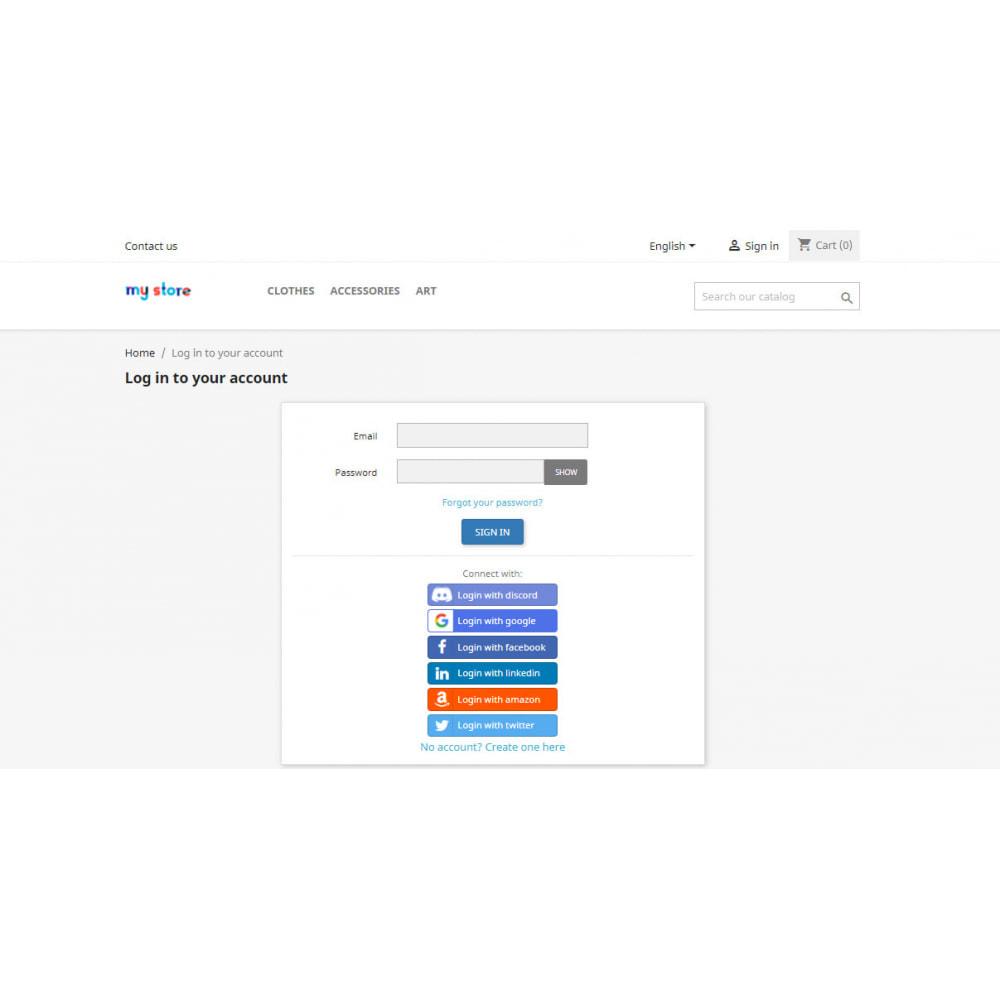 module - Social Login & Connect - Social Login & Connect, Register via +20 Apps,Mailchimp - 7