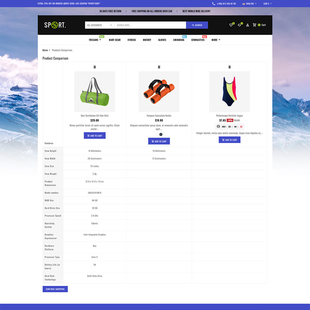 theme - Sports, Activities & Travel - Sports - Travel Store - 11
