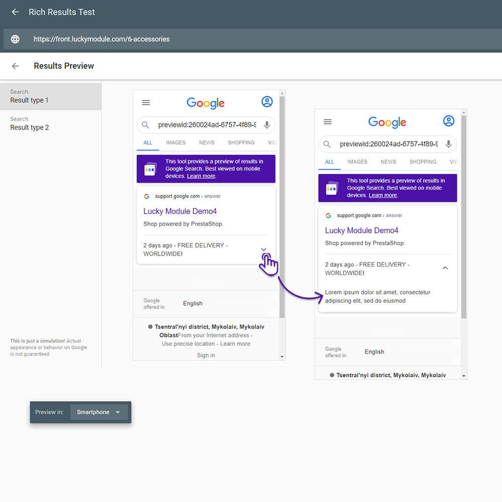 module - SEO (Indicizzazione naturale) - Google Special Announcement & SEO Schema Data Markup - 5