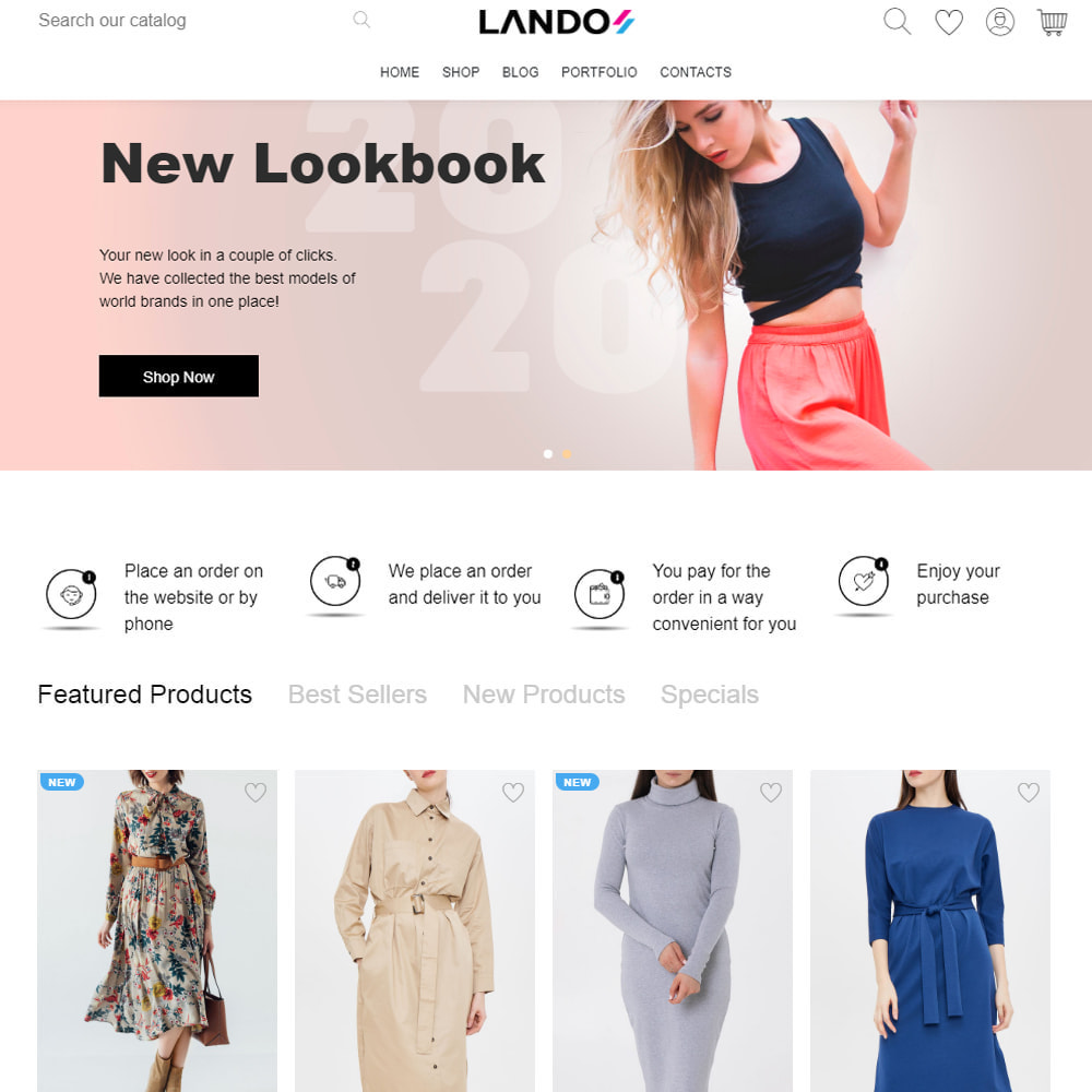 theme - Fashion & Shoes - Lando - Modern Multipurpose Online Store - 4