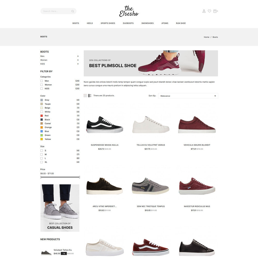 theme - Mode & Schoenen - Elsesho - Fashion & Shoes Store - 3