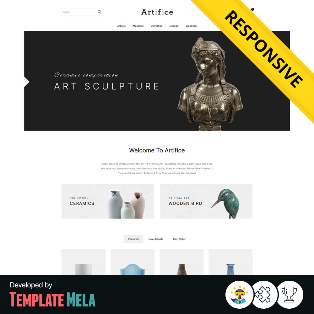 theme - Arte y Cultura - Artifice Art & Culture Online Store - 1