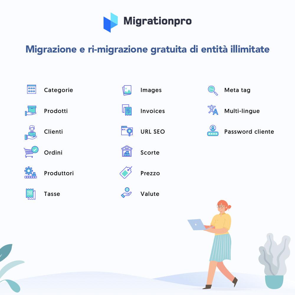 module - Data Migration & Backup - Strumento di migrazione da Magento a PrestaShop - 2