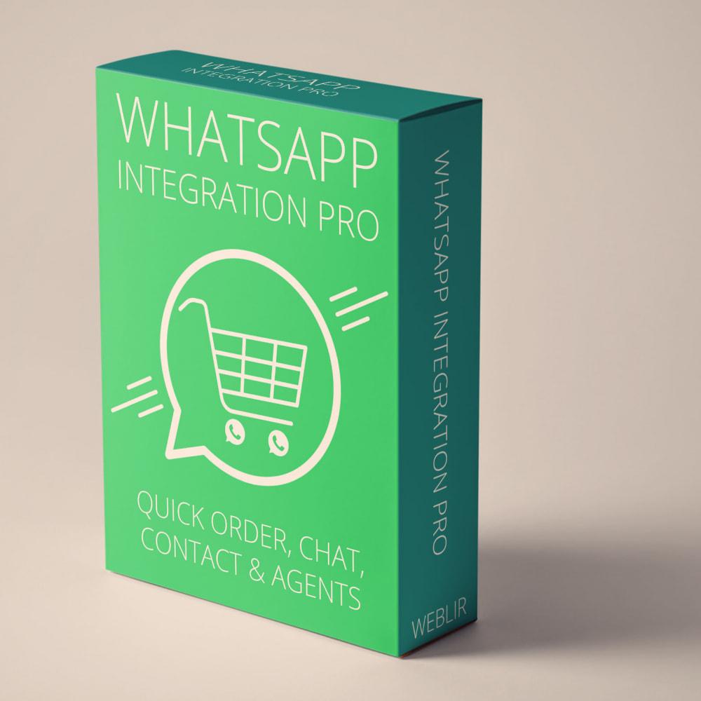 module - Support & Chat Online - Intégration WhatsApp PRO - Commande rapide, chat,agents - 1