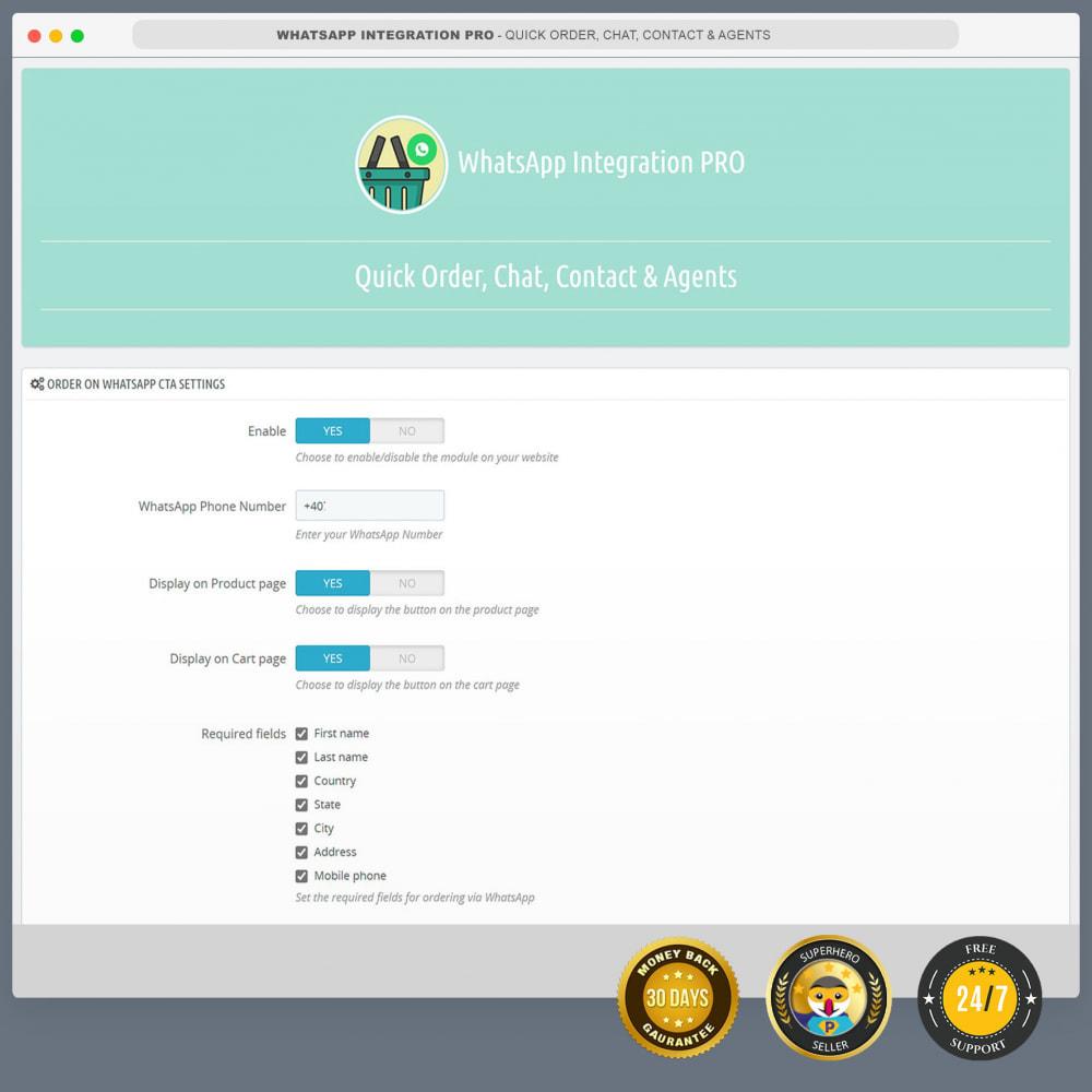 module - Supporto & Chat online - WhatsApp Integration PRO - Ordine, chat, agenti - 3