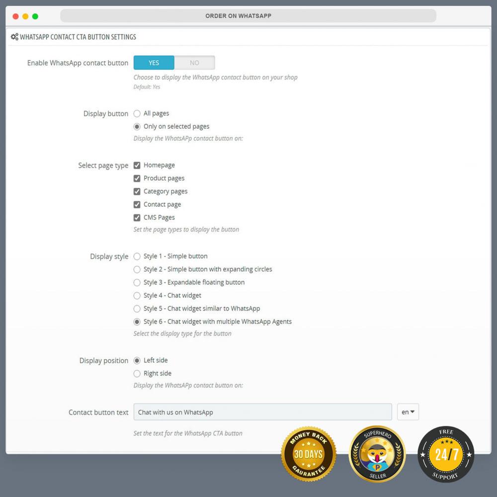 module - Supporto & Chat online - WhatsApp Integration PRO - Ordine, chat, agenti - 14