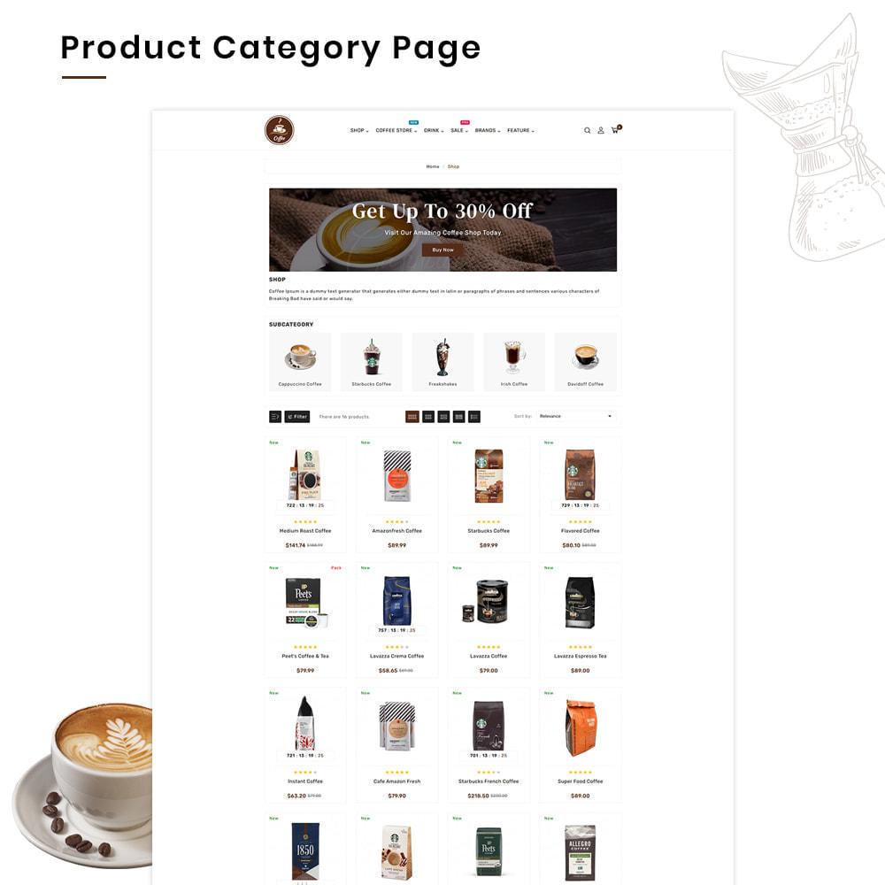 theme - Alimentation & Restauration - Coffee VIP Mega Coffee–Tea Nature–Beans Minimal Store - 3