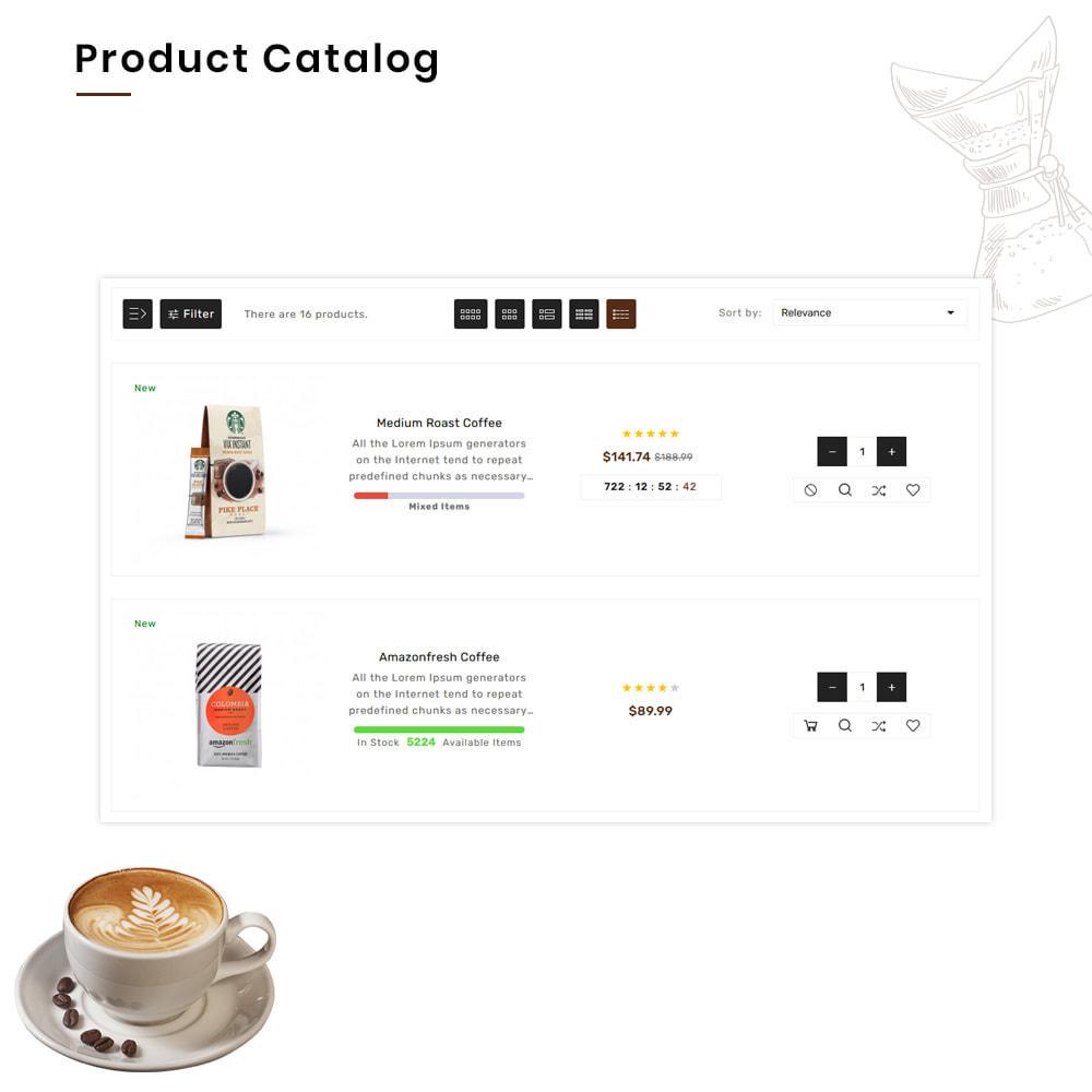 theme - Alimentation & Restauration - Coffee VIP Mega Coffee–Tea Nature–Beans Minimal Store - 6