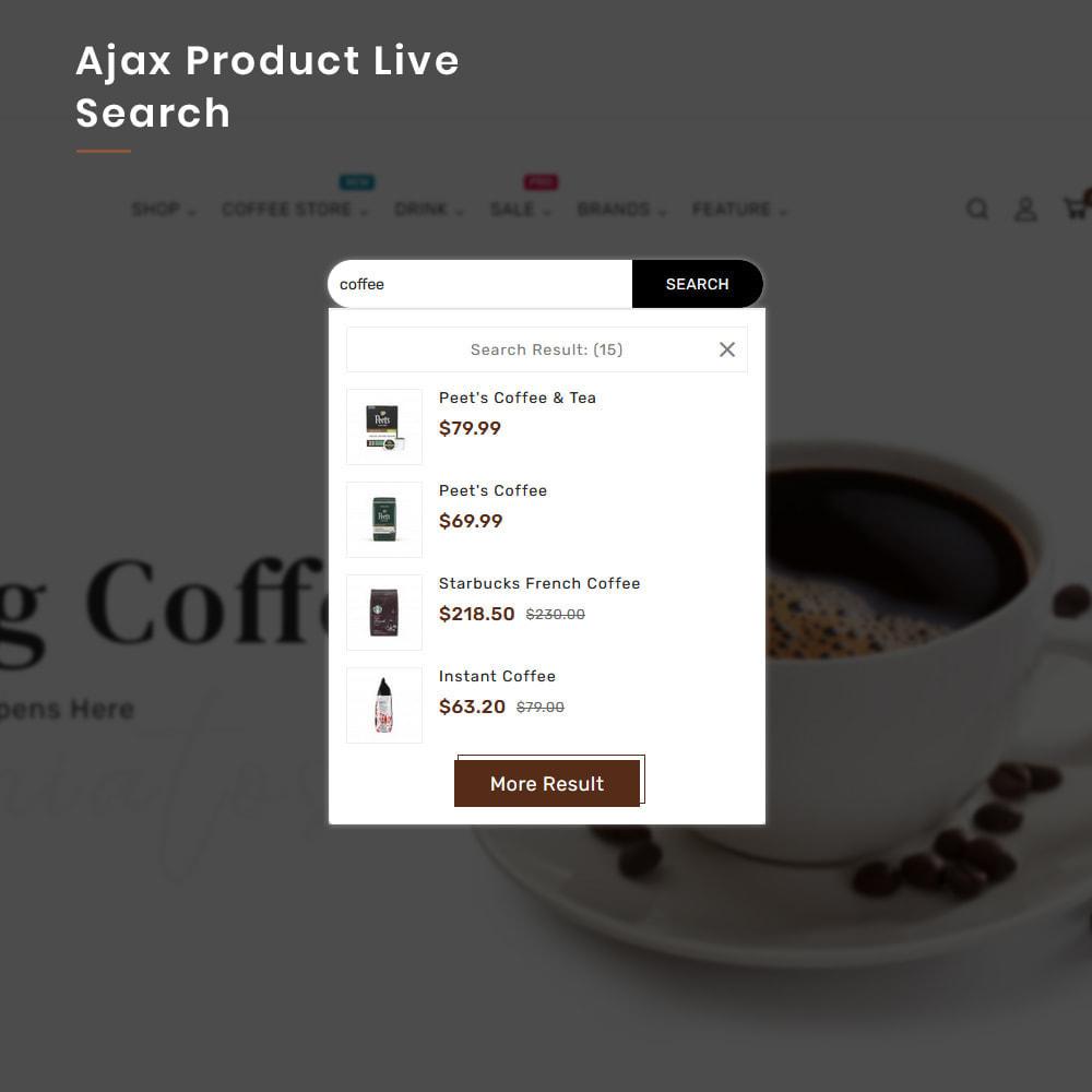 theme - Alimentation & Restauration - Coffee VIP Mega Coffee–Tea Nature–Beans Minimal Store - 7