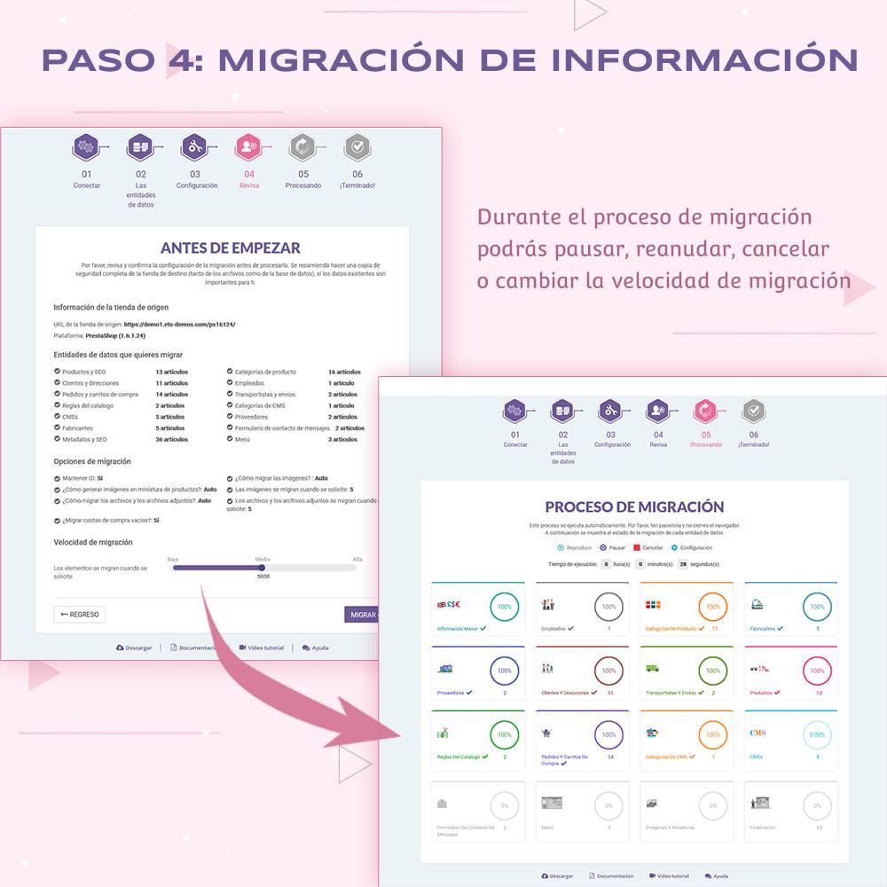 module - Migración y Copias de seguridad - PrestaShop Migrator – actualizar PrestaShop a la 1.7 - 11