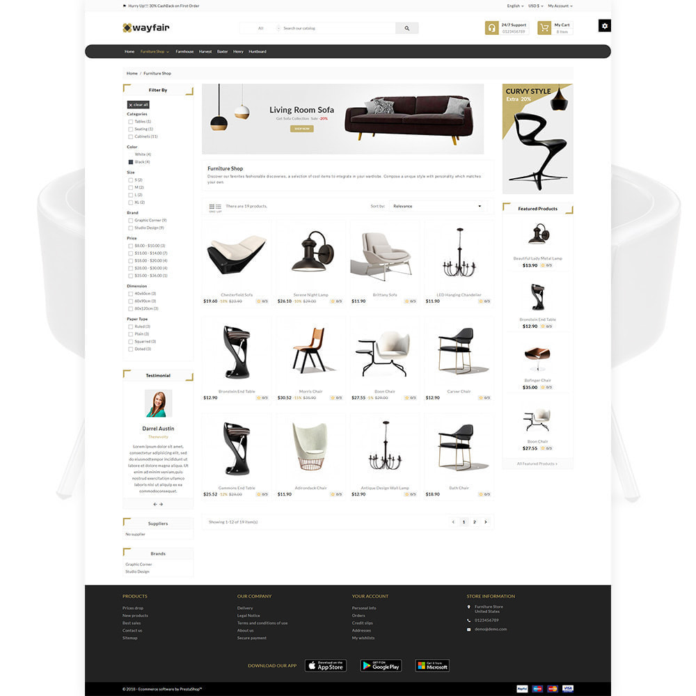 theme - Casa & Jardins - Wayfair Furniture  - Furniture Shop - 3