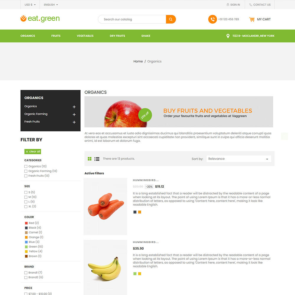theme - Продовольствие и рестораны - Eat Green - Fruit Vegitable Organic Food Store - 4